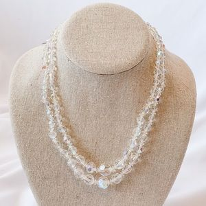 Vintage - Iridescent Double Layered Necklace